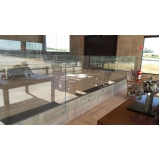corrimão de vidro residencial ARUJÁ