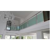 corrimão de vidro verde Itanhaém