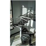 corrimão para escada caracol Luz