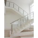 corrimão para escada com vidro orçar São Domingos