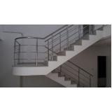 corrimão escada de concreto