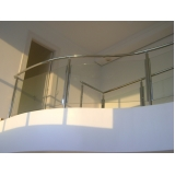 corrimão para escada com vidro