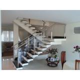 corrimão para escada da sala Praia Grande