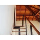 corrimão para escada de madeira Francisco Morato