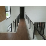 corrimão para escada de sala Brás