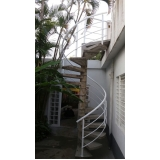 corrimãos de alumínio para escada caracol Ferraz de Vasconcelos