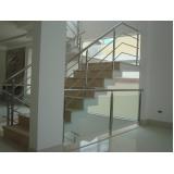 corrimãos para escada com vidro Rio Grande da Serra