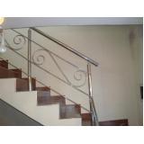 corrimãos para escada cromado Caieiras