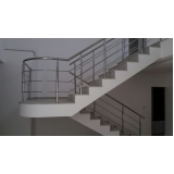 corrimãos para escada de concreto Santana