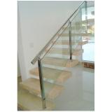 corrimões de escada em vidro temperado Santana