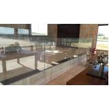 corrimão de vidro residencial