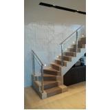 corrimões de vidro para escadas Itu
