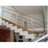 empresa de instalação de corrimão de aço inox para escada reta M'Boi Mirim