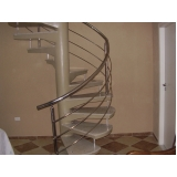 fábrica de corrimão de aço inox para escada caracol
