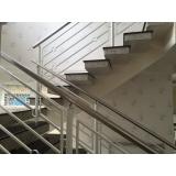 fabricante de corrimão para escada Luz