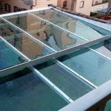 fazer orçamento de cobertura com vidro temperado Vila Formosa