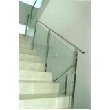 guarda corpo de escada de vidro Luz
