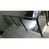 guarda corpos de vidro escada Cidade Ademar