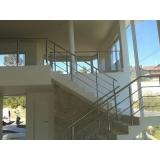guarda corpos de vidro para escada Itaquera