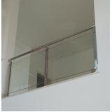 instalação de corrimão de aço inox com vidro valor Juquitiba