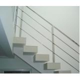 instalação de corrimão de aço inox para escada reta