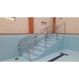 instalação de corrimão de aço inox para piscina