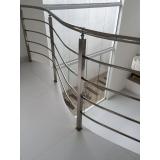 instalação de corrimão de inox para escada