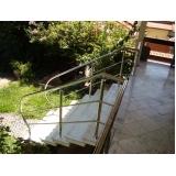 instalação de corrimão de aço inox para escada caracol valor Raposo Tavares
