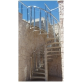 instalação de corrimão de aço inox para escada caracol Taboão da Serra
