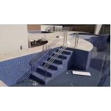 instalação de corrimão de aço inox para piscina valor Tremembé