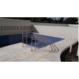 instalação de corrimão de aço inox para piscina valores M'Boi Mirim