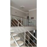 instalação de corrimão de escada em vidro temperado Glicério