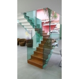 instalação de corrimão de vidro para escada Saúde