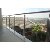 instalação de corrimão de vidro para varanda Jardim Bonfiglioli