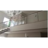 instalação de corrimão de vidro residencial Alphaville