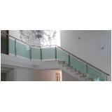 instalação de corrimão de vidro verde Perus