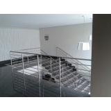 instalação de guarda corpo escada vidro São José do Rio Preto