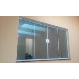 janela de vidro temperado São Vicente