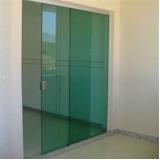 orçar porta de vidro correr Vila Maria