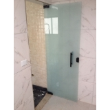 porta de vidro banheiro Penha