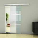 porta de vidro branca Brasilândia