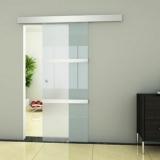 porta de vidro branca Piracicaba
