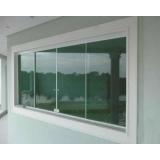 preço de janela de vidro com grade Pedreira