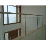 procuro por corrimão para escada com vidro Sorocaba