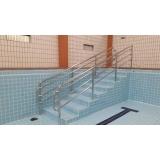 quanto custa corrimão de aço inox para piscina Água Funda