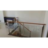 quanto custa corrimão de vidro para escada de madeira Taboão da Serra