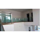 quanto custa corrimão de vidro verde Marília