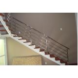 quanto custa corrimão para escada da sala Brooklin