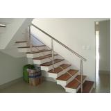 serviço de instalação de corrimão de aço inox para escada reta Água Funda