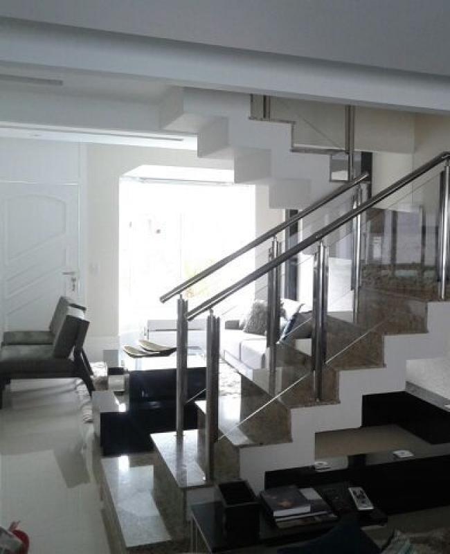 Valor de Corrimão Aço Inox com Vidro Cachoeirinha - Corrimão de Escada de Inox